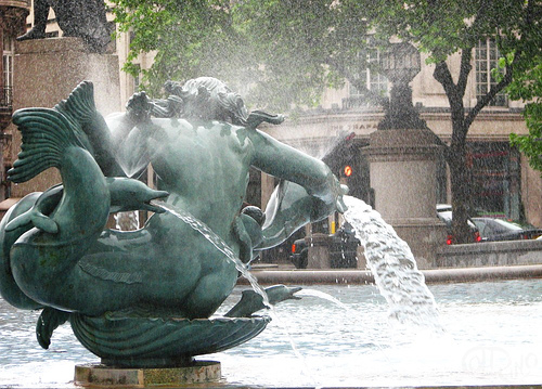London - Fuente en Trafalgar Square