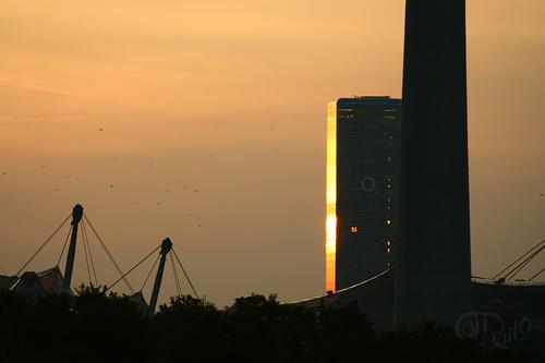 München - Uptownturm tras la Olympiaturm