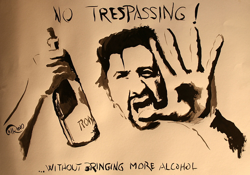 Poster - No trespassing