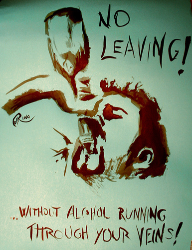 Poster - No leaving