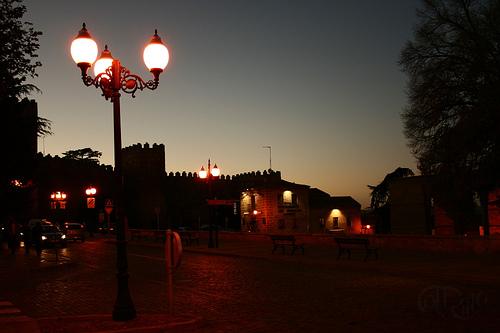 Ávila - Muralla al atardecer