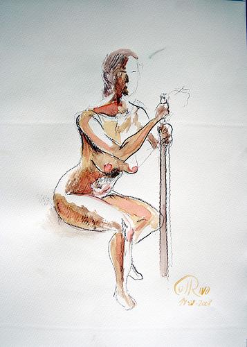 Acuarela - El bastón