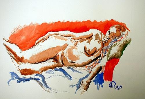 Dibujo - Dormida