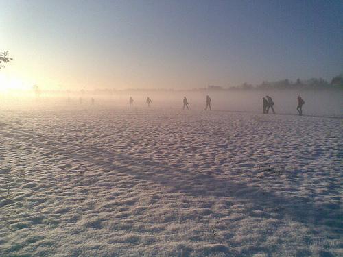 München - Campeon cubierto de nieve