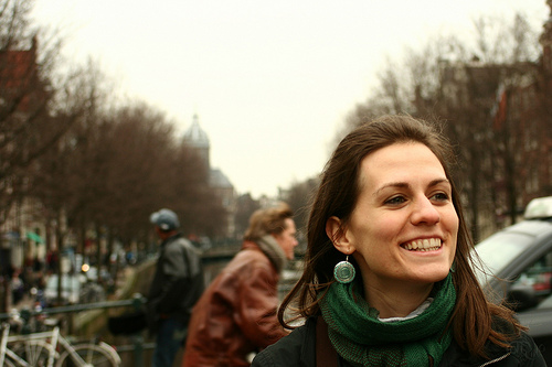 Amsterdam - Guapa sonriendo