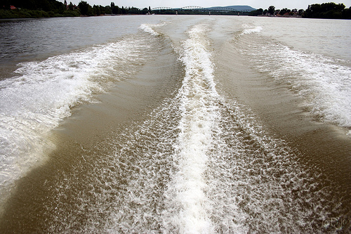Danubio - Estela del barco