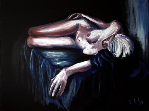 Óleo - El sueño venció al deseo