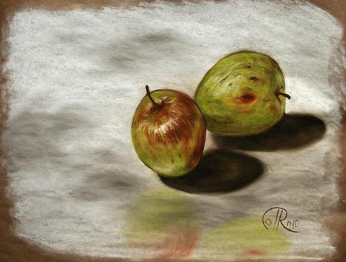 Dibujo - Manzanas