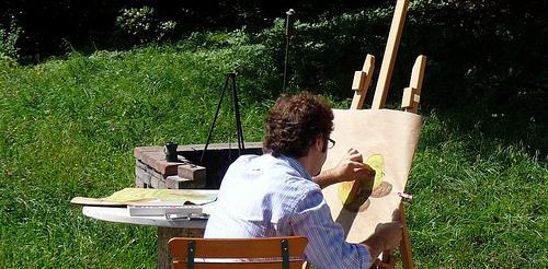Pintando manzanas en la Villa Riedwies