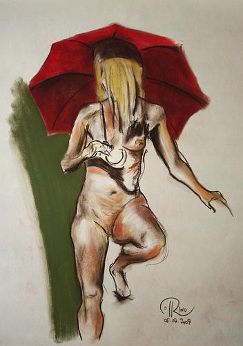Dibujo - Sombrilla