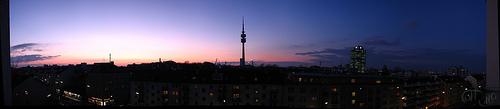 München - La noche cae sobre Olympia