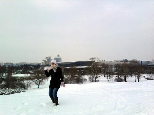 JJOO - Lanzamiento de bolas de nieve