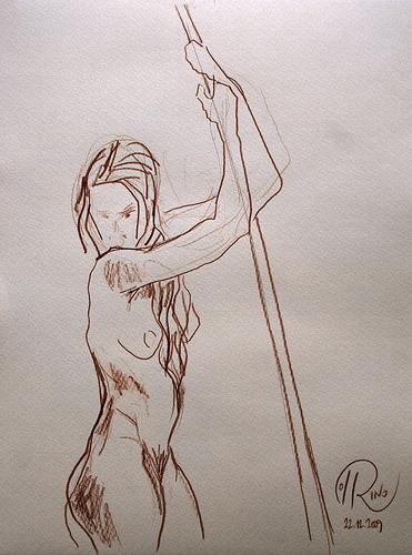 Dibujo - Guerrera