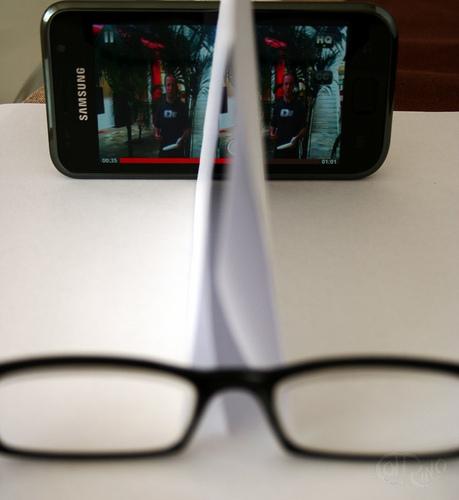 Smarphone 3D - Móvil, cartulina y gafas de lectura