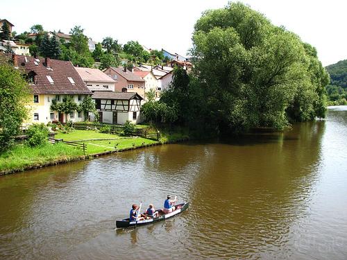 Solnhofen - Canoa sobre el Altmühl