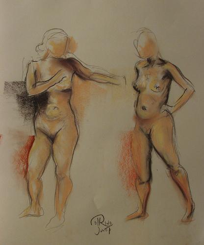 Dibujo - Prolegómenos de lucha en el barro