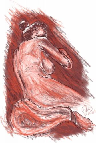Dibujo - Sueños rojos