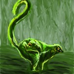 Dibujo - Lémur verde