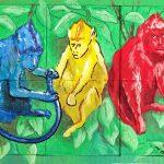Acrílico - Puzzle Three Monkeys
