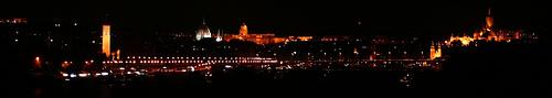 Budapest - Nocturno desde Árpad híd
