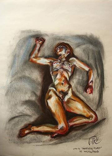 Dibujo - Naked girl asleep