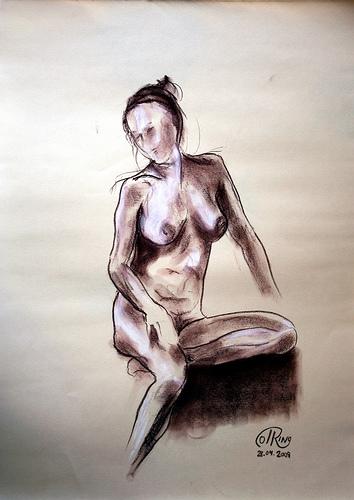 Dibujo - Sentada