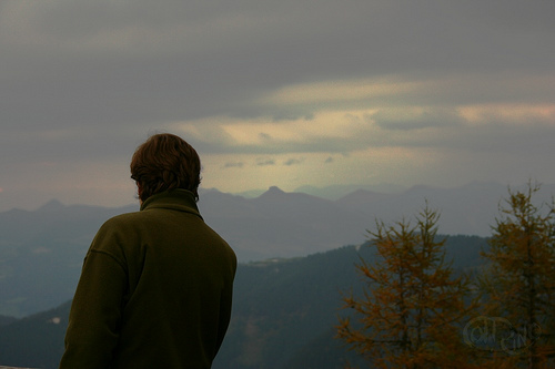 Kehlstein - Isaac mirando al infinito