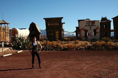 Virgin, UT - Wild West de cartón-piedra