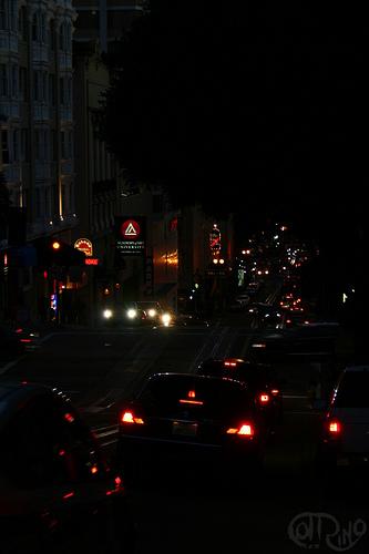 San Francisco, CA - Luces en la noche