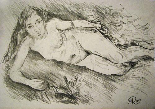 Renoir - A Nymph by a Stream