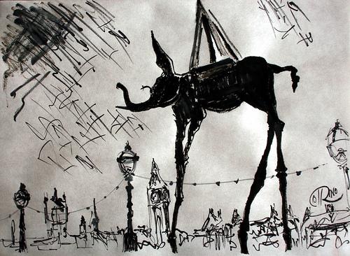 Dibujo - San Antonio en Londres